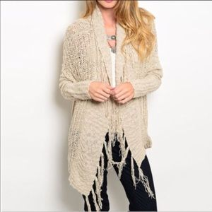 Sweaters - Gorgeous Fringe Accent Cardigan